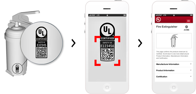 Qr code product page